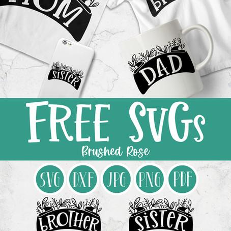 Free SVG Spring family Ribbon set