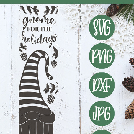 Free Gnome Front porch Sign SVG