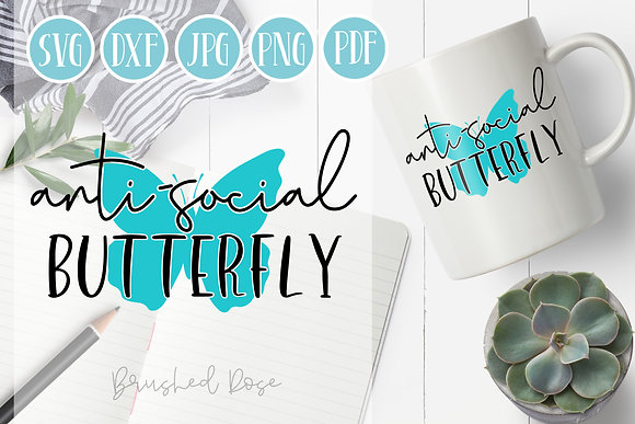 anti-social butterfly svg, butterfly svg, funny, sarcastic