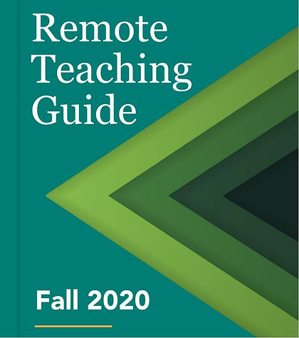 Remote Teaching Guide Fall 2020 (cover p