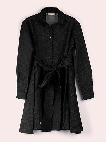 RUBY - Robe noire denim