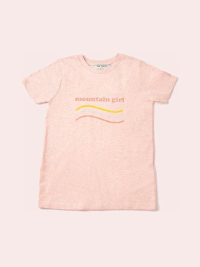 TELLY - Tee shirt rose enfant