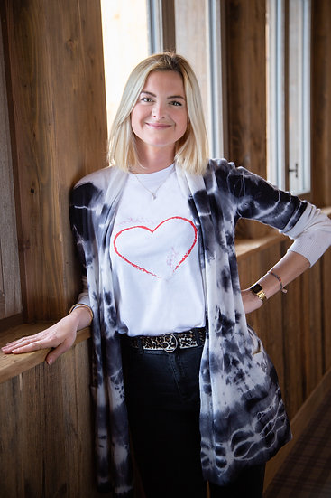 HEART - Tee shirt blanc