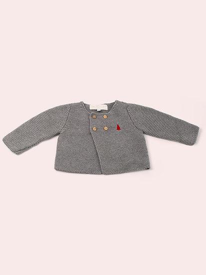 Cardigan gris bébé