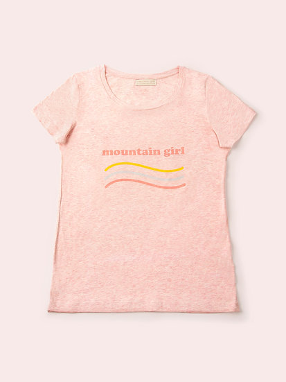 TELLY - Tee shirt rose chiné