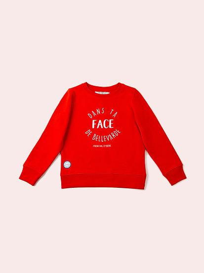 DTF - Sweatshirt rouge enfant