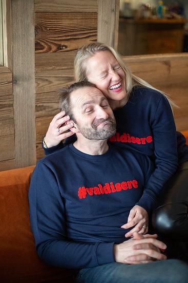 #VALDISERE - Sweatshirt marine bouclette