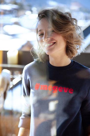 #MEGEVE - Sweatshirt marine velours