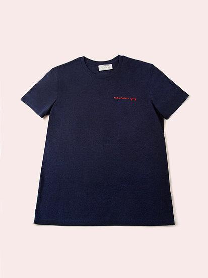 TOM - Tee shirt bleu nuit chiné