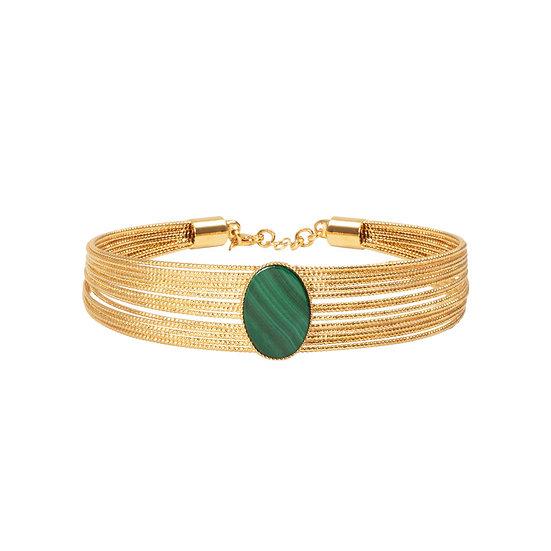Bracelet multi brillant pierre nacre