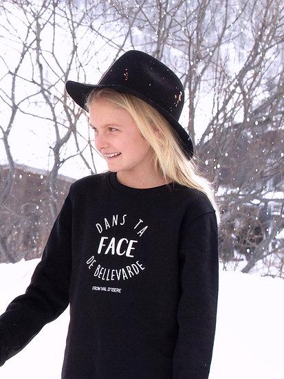 DTF - Sweatshirt noir enfant