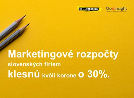 Marketingové rozpočty v slovenských firmách sa škrtajú o 30%.