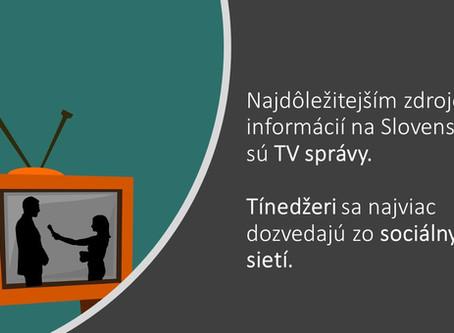 Informácie o politickom a spoločenskom dianí stále najviac čerpáme z TV správ