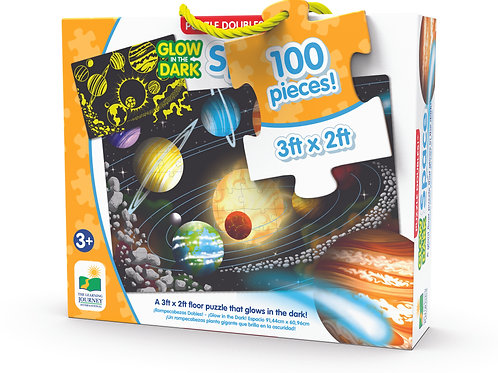Puzzle Doubles - Glow in The Dark - Space - 100 Pieces