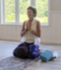 Dianne Levine guidng a yog retreat
