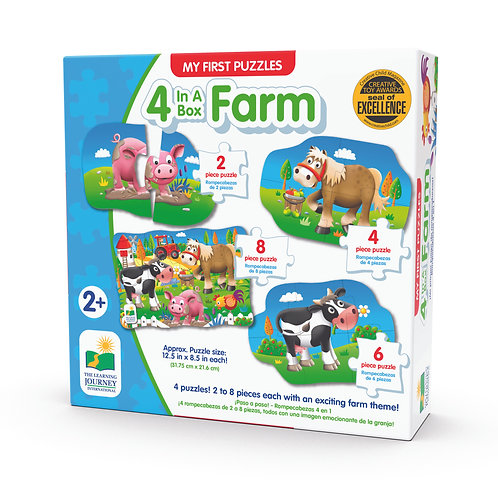 My First 4-In-A-Box Puzzle - Farm