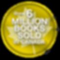 Over 6 Million Books Sold badge