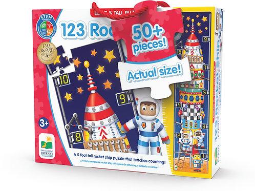 Long & Tall Puzzles - 123 Rocket Ship