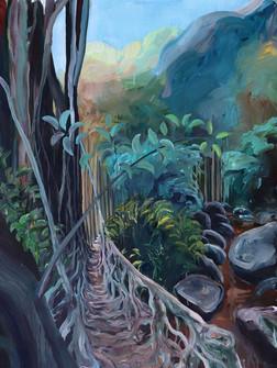1Punhet Darrang Rootbridge, Acrylic on Canvas, 205 x120 cm, 2020