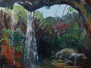 View from Cave, Acrylic on Canvas, 75 x 100 cm, 2019