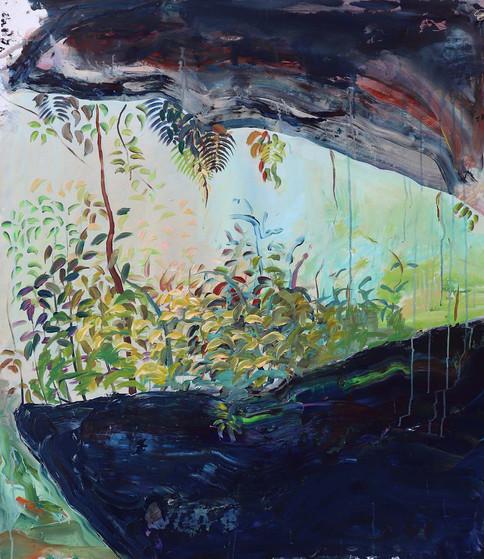 Between Stones, Acrylic on Canvas, 95 x 110 cm, 2019