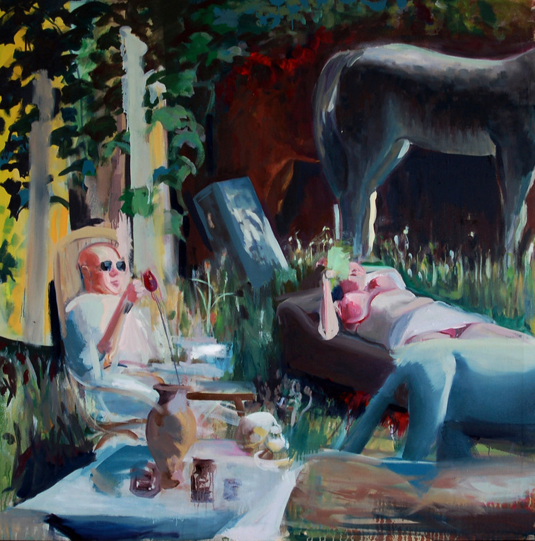 Baroko, Oil on canvas, 140 x 140 cm, 2011