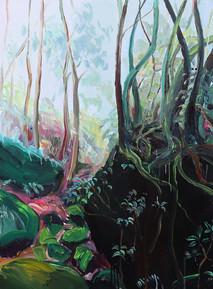 Mawten Forest, Acrylic on Canvas, 75 x 100 cm, 2019