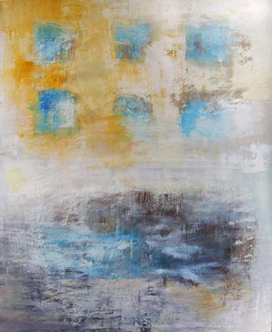 Račianske Mýto,Oil on canvas, 185 x 150 cm, 2012