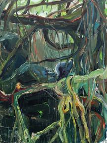 Elastic Tree, Acrylic on canvas, 100 x 75 cm, 2019