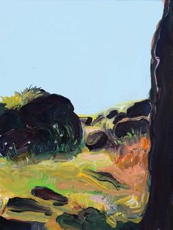 Mawranlang Monoliths, Acrylic on Canvas, 25 x 30 cm, 2020