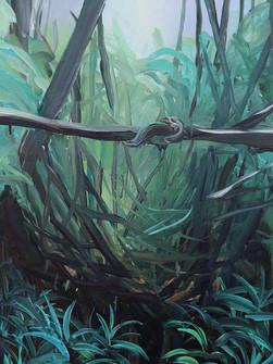 Railing, Acrylic on canvas, 60 x 40 cm, 2020
