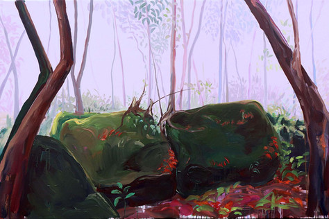 Garden of Caves, Acrylic on Canvas, 150 x 100 cm, 2019