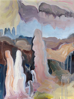 Cave 1, Oil on Canvas, 100 x 75 cm, 2019