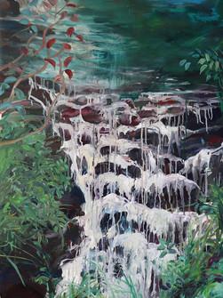 Elephant Falls, Acrylic on Canvas, 100 x