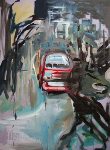 Outside, Oil on canvas, 150 cm x 100 cm, 2011