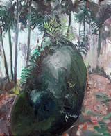 Shnowpadeing Stone 2, Acrylic on canvas, 25 x 30 cm, 2017