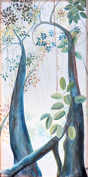 2_Two Trees, Traditional pigments Hengul