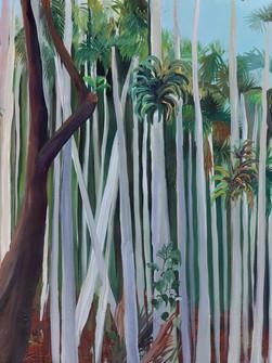 Punhet Forest, Acrylic on Canvas, 150 x 100 cm, 2020