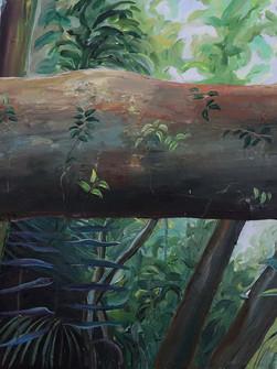 Root Bridge Railing, Acrylic on Canvas, 75 x 100 cm, 2020