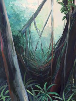 Forest near Shillang Jaishar village, Acrylic on Canvas, 60 x 40 cm, 2020