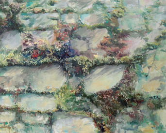 Wall at Cleve Colony, Oil on canvas, 63 x 52 cm, 2017