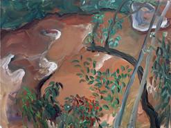 Mawsawa river, Acrylic on Canvas, 100 x 75 cm, 2019