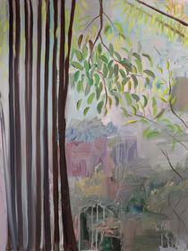 Sillang Jaishar, Acrylic on Canvas, 75 x 100 cm, 2019