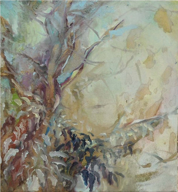 Leaves, Oil on canvas 50 x 50 cm 2014