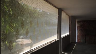 """Installation """"Templates"""" in corridor of Faculty of fine arts MSU, Baroda, 2014"""