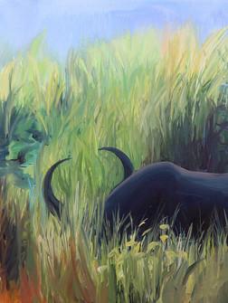 Kaziranga, Acrylic on Canvas, 75 x 100 cm, 2020