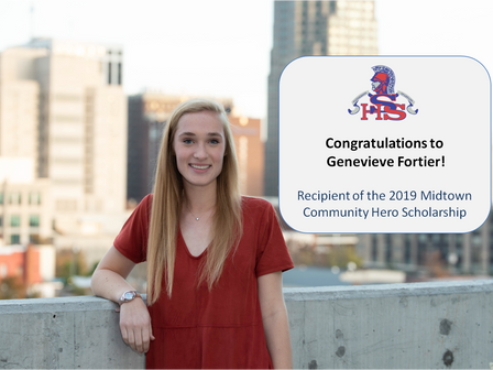 Genevieve Fortier winner of 2019 Midtown Community Hero Scholarship!