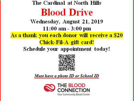 Blood Drive at The Cardinal at North Hills
