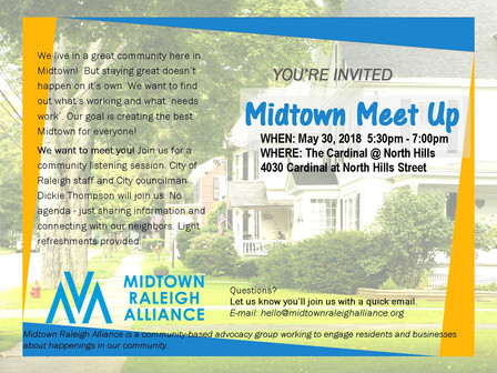 Live in Midtown? Join us for the MRA Midtown Meet-UP May 30th