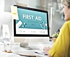 Blended online first aid training at Sussex First Aid Courses